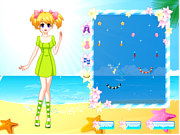 Game Pretty Beach Wandering Girl