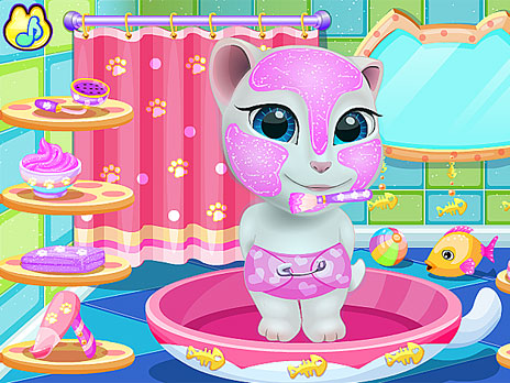 Talking Angela at Spa Session game