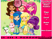 Strawberry Shortcake Hidden Numbers Game
