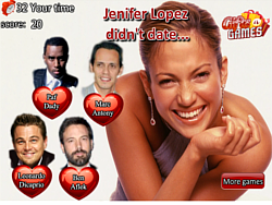 Celebrity Dating trivia game