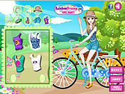 Juega al juego gratis Fashionable Bike Ride