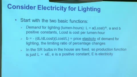 Watch free video Lecture 8 - Economics of Energy Demand