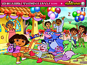 Dora Hidden Alphabets game