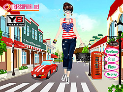 Street Girl Dress Up game