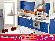 Modern Blue Room Hidden Objects game