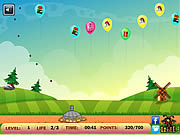 Cannon Balloon Defense game