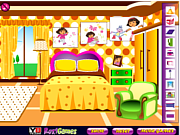 Juega al juego gratis Dora Fan Room Decoration