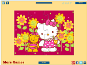 Hello Kitty with Teddy Bear لعبة