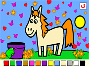 Juega al juego gratis Rosalyn's Animal Coloring