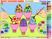 Painting Eggs - Rossy Coloring Games game
