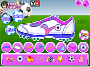 Juega al juego gratis Decorate My Football Shoes