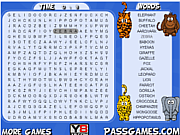 Safari Animals Word Search game
