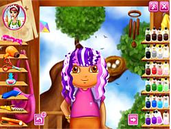 Juega al juego gratis Dora Real Haircuts