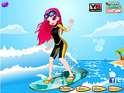 Surfing Weekend Dressup game