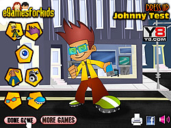 Johnny Test Dressup game