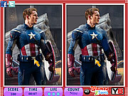 Juega al juego gratis 10 Differences - Captain America
