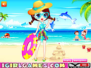 Juega al juego gratis Summer Beach Dress Up