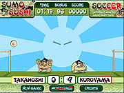 Jogar jogo grátis Sumo Sushi Soccer