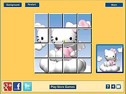 Juega al juego gratis Hello Kitty Clouds