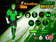 Green Lantern Dressup game