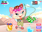 Naughty Kitten Like To Go Fishing game