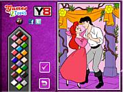 Princess Ariel  and Eric Online coloring