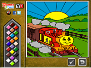 Thomas the Tank Online Coloring oyunu