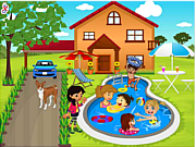 Kids Swimming Pool Decor game