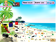 Beach Camp Cleanup game