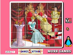 Princess Cinderella Spin Puzzle game