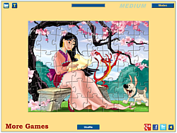 Princess Mulan Jigsaw game