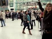 Watch free video T-Mobile Heathrow Airport Flash Mob