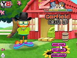 Garfield Dressup game