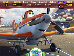 Juega al juego gratis Planes Hidden Words