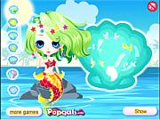 Cute little mermaid princess