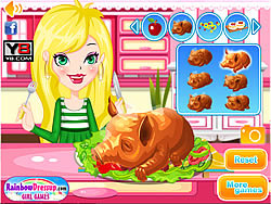 Apple Piglet Cooking Show game