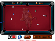 Juega al juego gratis Straight Billiard