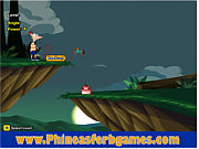Juega al juego gratis Phineas and Ferb Kick Perry
