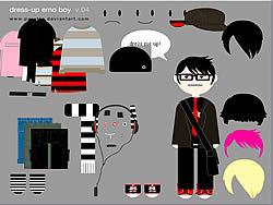 Little Emo Boy Dress Up game