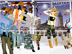 Army Dress Up game