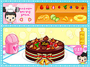 Juega al juego gratis Fruit Cake Decoration