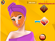 Princess Belle Facial Makeover game