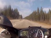 Watch free video Mercedes SL63 AMG vs Yamaha R1 (300km/h)
