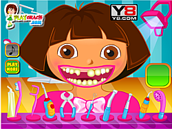 Dora dental care game