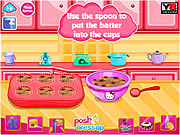 Hello Kitty's Choc-Chip Jelly Muffins