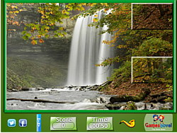 Puzzle Craze Nature Waterfalls game