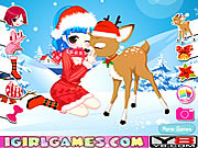 Juega al juego gratis Christmas Girl Loves Reindeer
