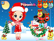 Merry Christmas Noel and Snowman Dress Up game