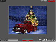 Christmas Truck Jigsaw game