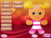 Juega al juego gratis Gingerbread Cookie Decoration